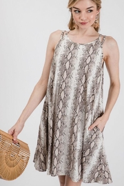 Axis Snake Print Dress - Front cropped