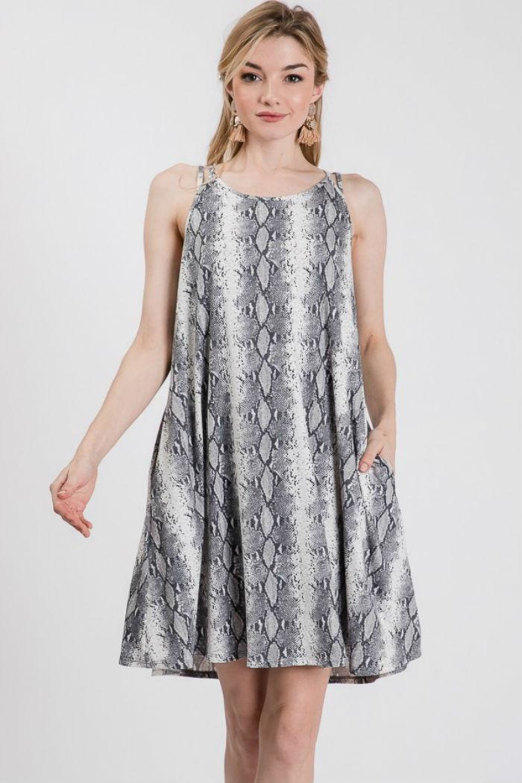 Axis Snake Print Dress - Front Cropped Image