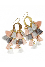 Fabulina Designs Ayanna Tassel Earrings - Front cropped