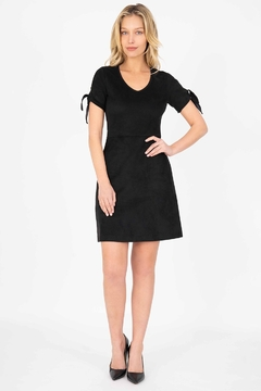 Level 99 Aylin Faux-Suede Tie-Sleeve Dress - Product List Image