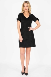 Level 99 Aylin Faux-Suede Tie-Sleeve Dress - Product Mini Image