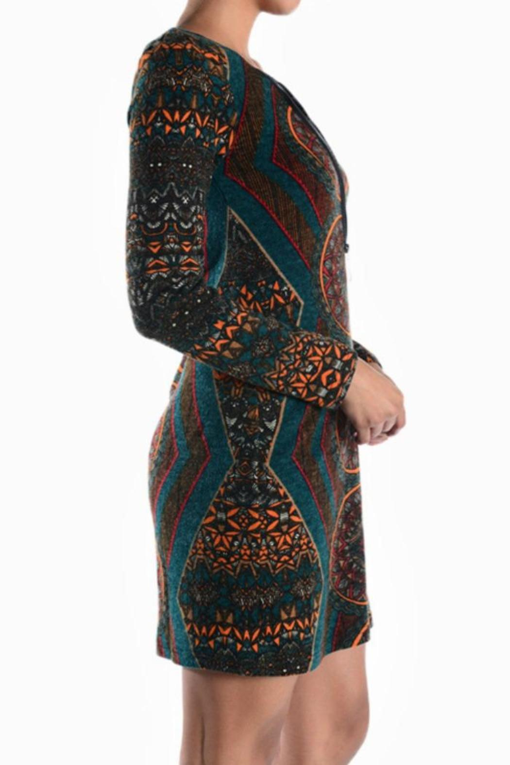 Ayreh Printed Knit Dress - Front Cropped Image