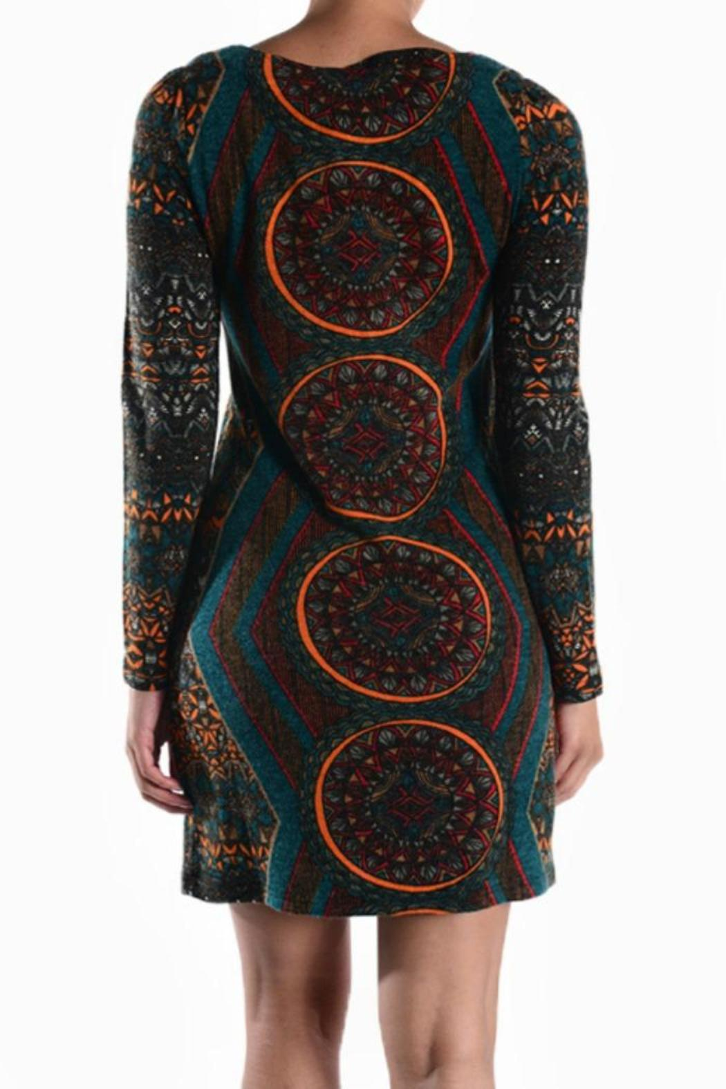 Ayreh Printed Knit Dress - Side Cropped Image