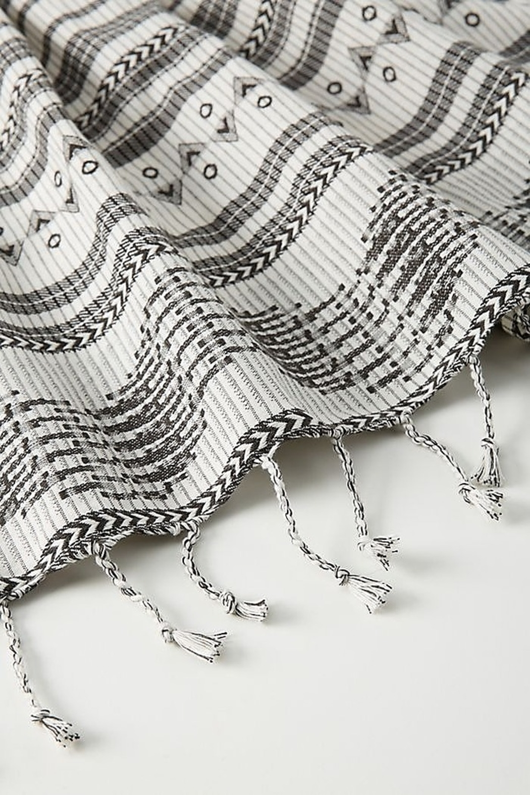 Anthropologie Aysel Apron in Black and White - Front Full Image
