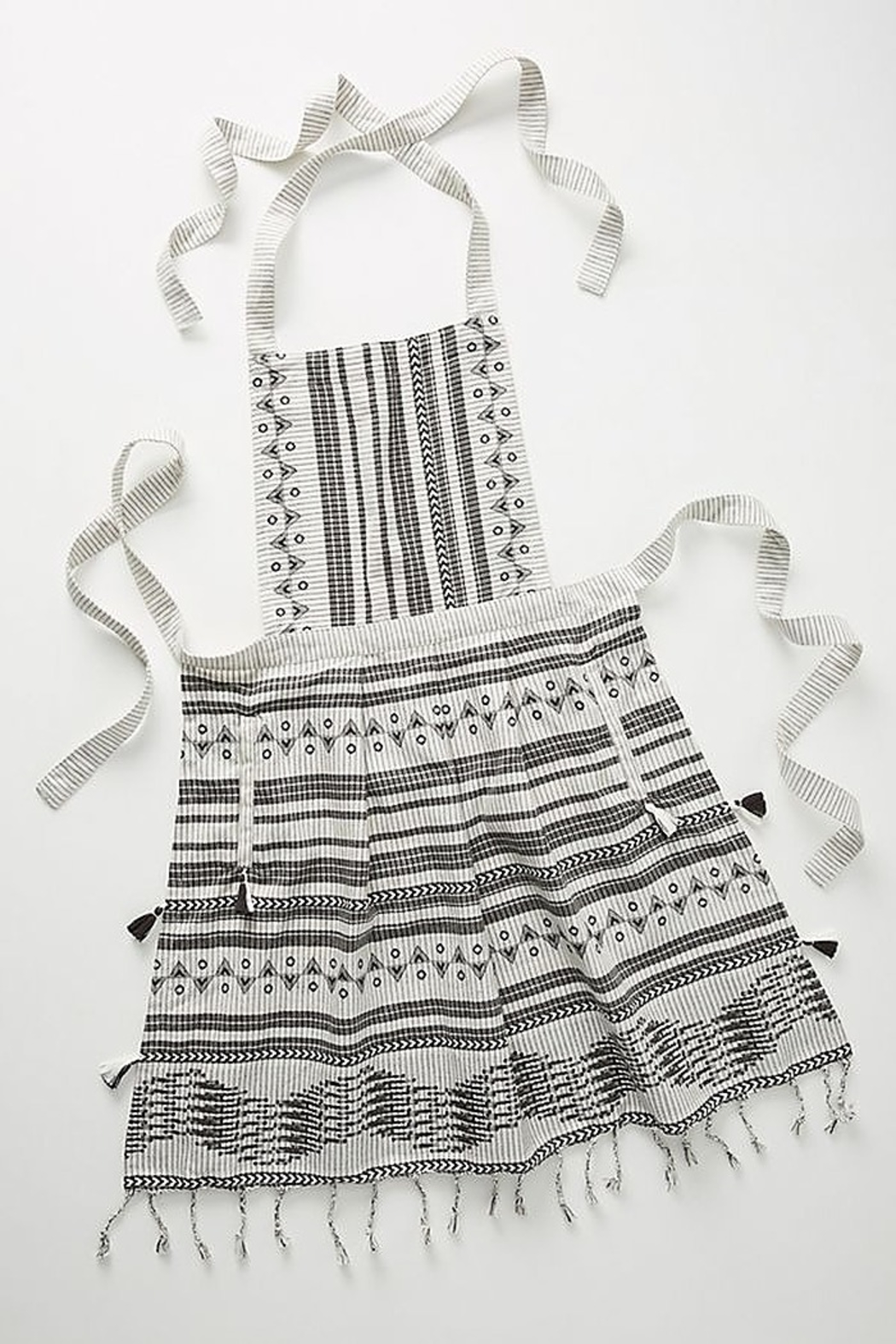 Anthropologie Aysel Apron in Black and White - Main Image