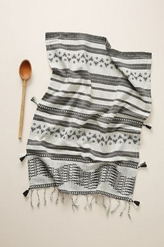 Anthropologie Aysel Dish Towel in Black and White - Alternate List Image