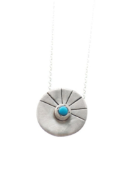 Chocolate and Steel Aytan Round Necklace - Silver - Product Mini Image