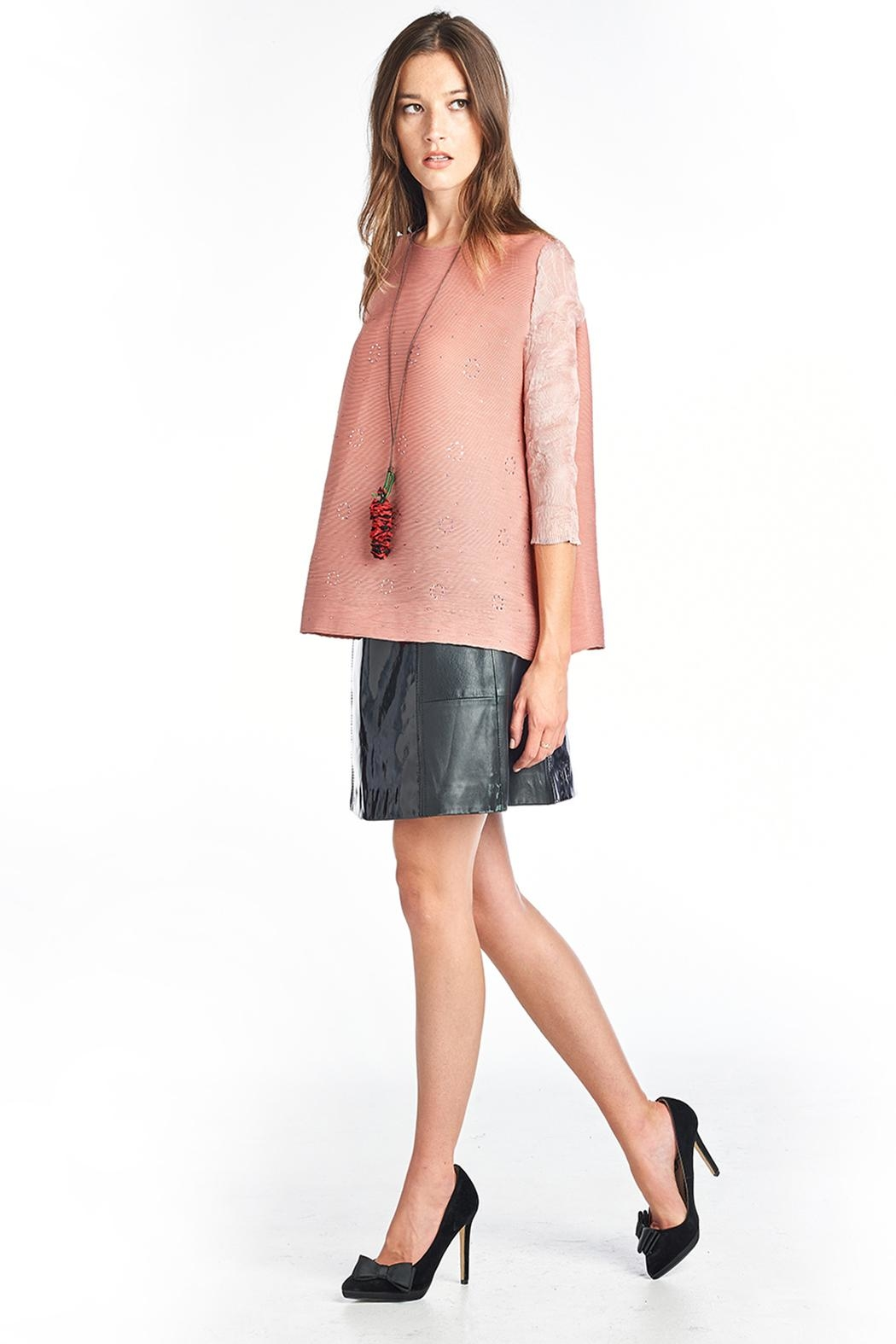 Nabisplace Azalea Blouse Pink - Side Cropped Image