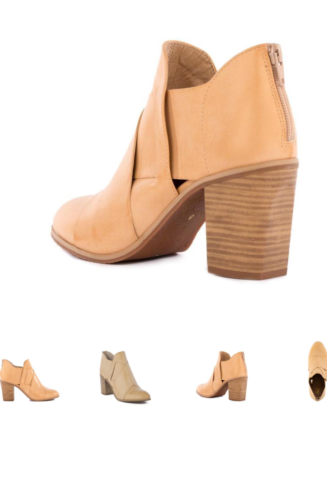 BC Footwear Azalea Natural Ankle Bootie - Front Full Image