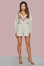 People Outfitter Azalia Ruffle-Sleeve Romper - Back cropped