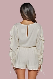 People Outfitter Azalia Ruffle-Sleeve Romper - Front full body