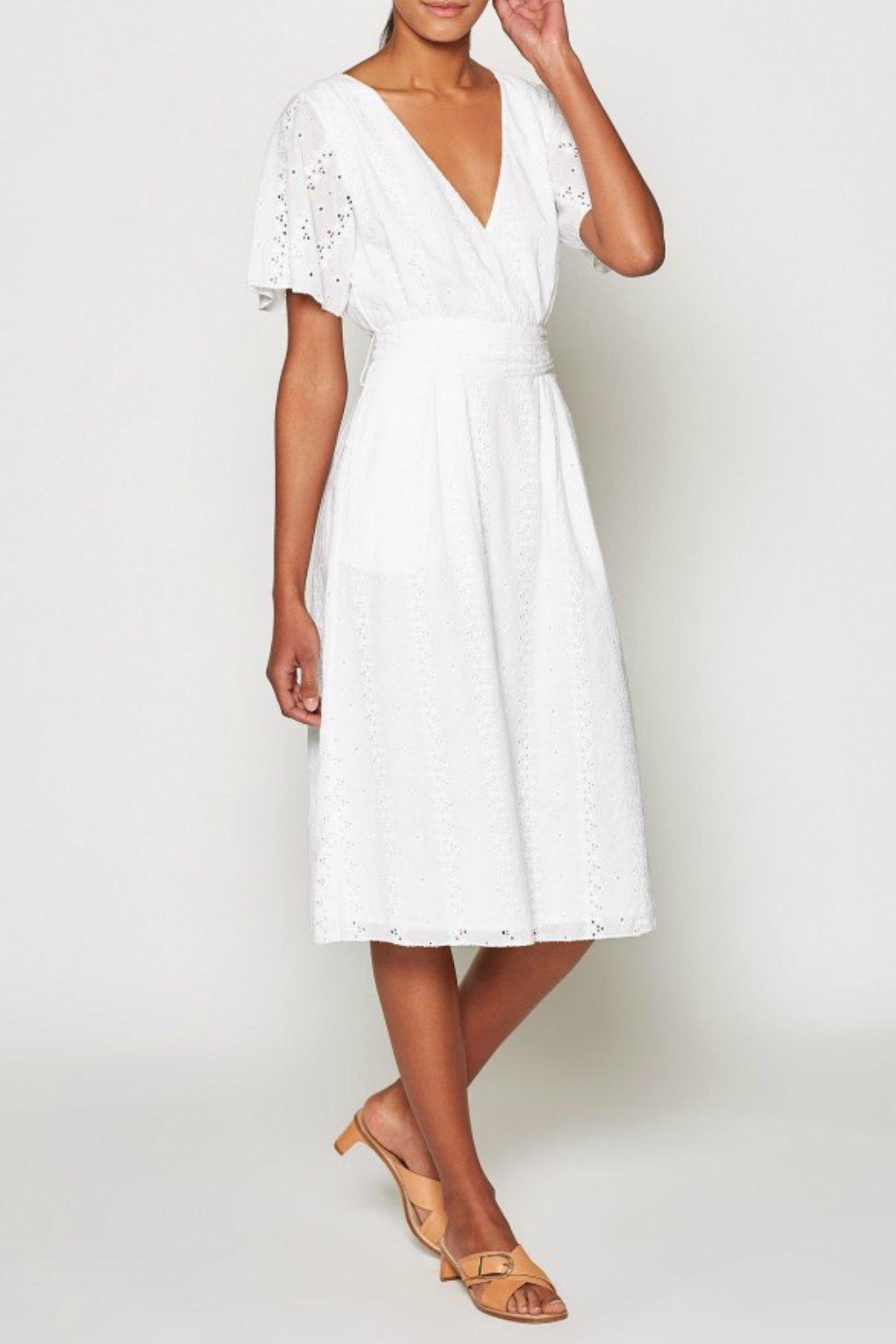 Joie Azariah Eyelet Dress - Front Cropped Image