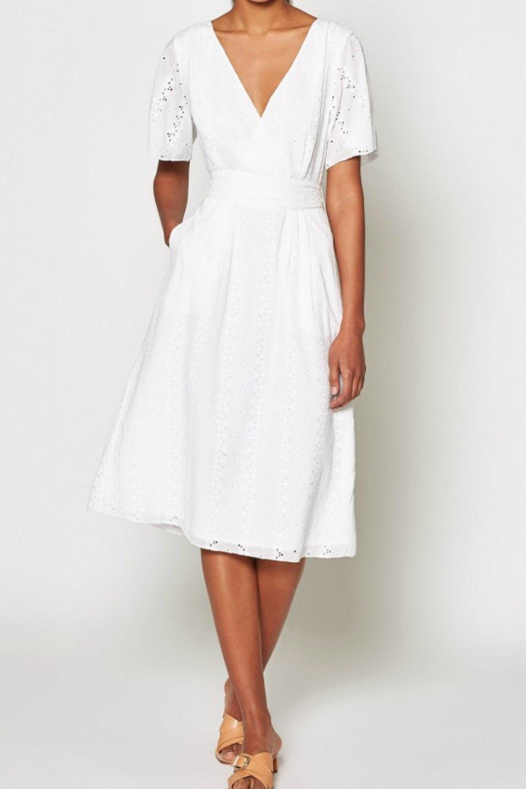Joie Azariah Eyelet Dress - Side Cropped Image