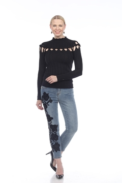 Shoptiques Product: Black Braided Sweater