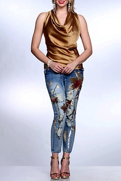 AZI Gold Shimmering Jean - Alternate List Image