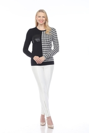 AZI Houndstooth Pocket Sweater - Front cropped