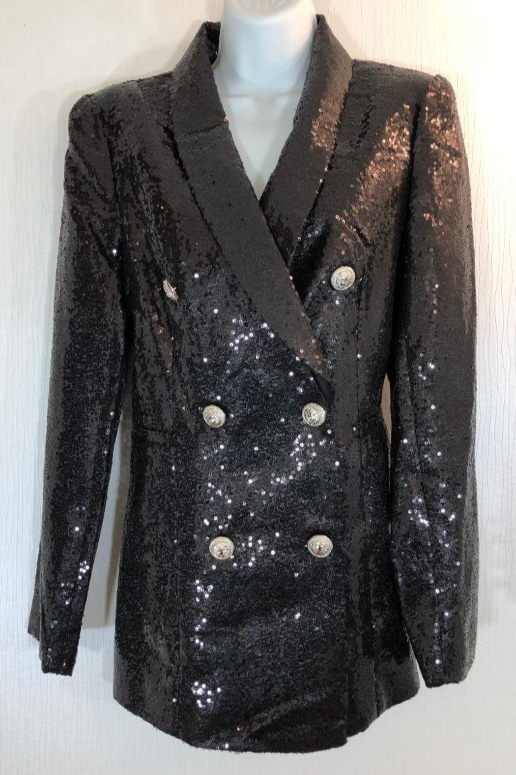 AZI Sequin Blazer Jacket - Main Image