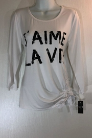AZI White Graphic Tee - Front cropped