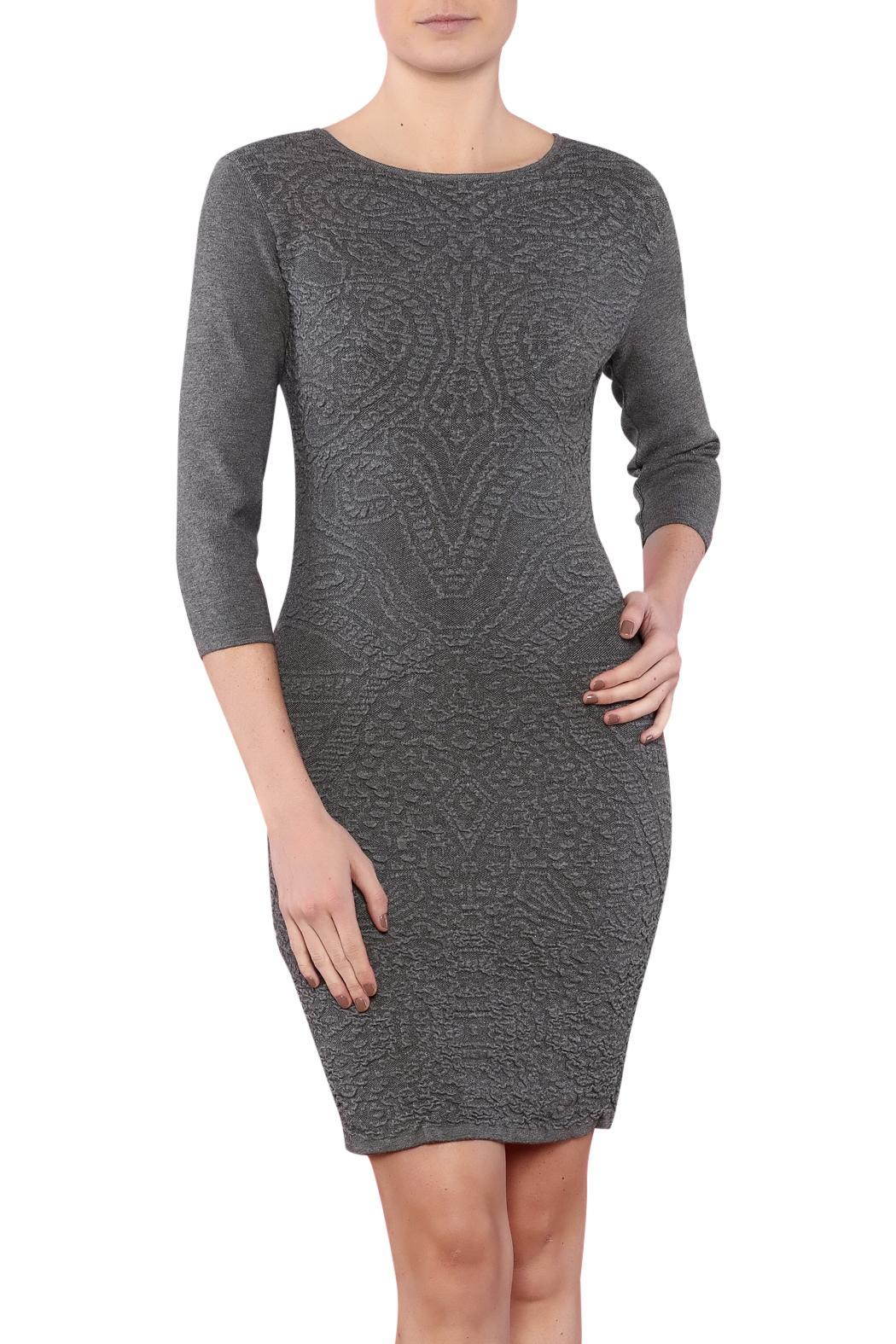 Azim Monochrome Bodycon Dress - Main Image