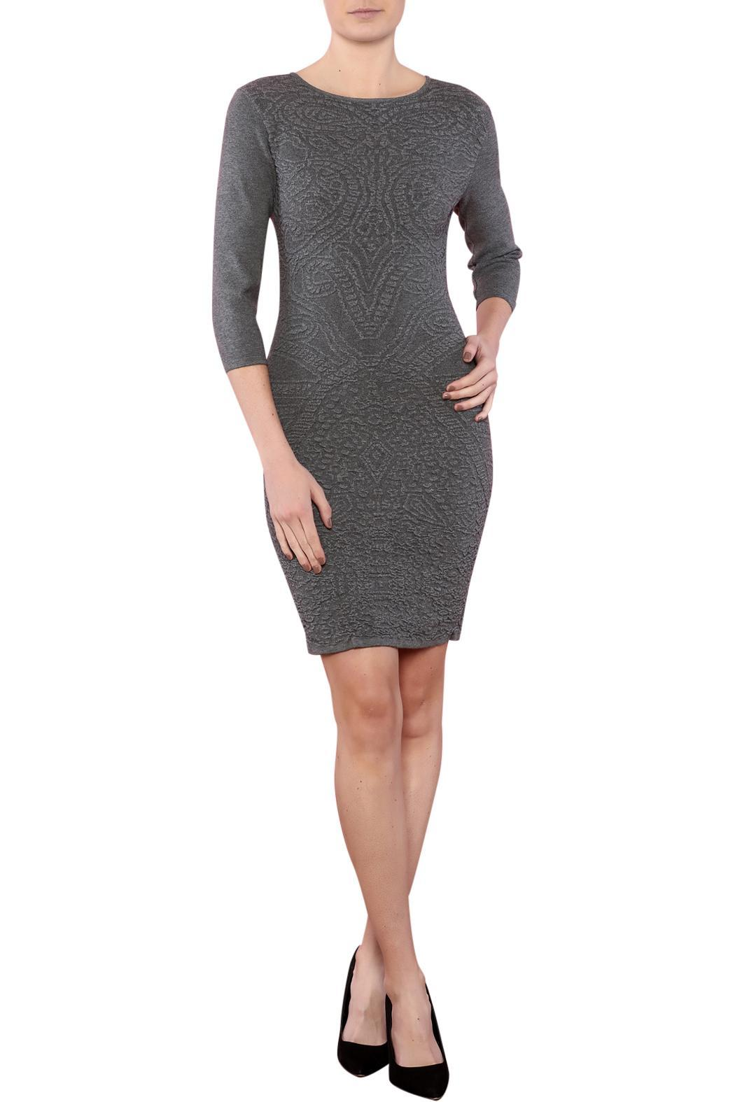 Azim Monochrome Bodycon Dress - Front Full Image