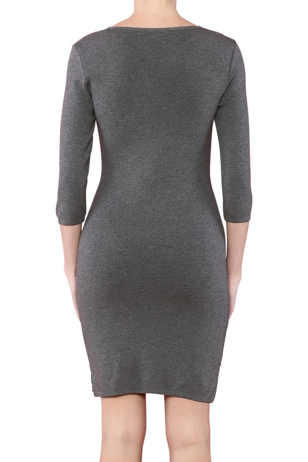 Azim Monochrome Bodycon Dress - Side Cropped Image