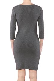 Azim Monochrome Bodycon Dress - Side cropped