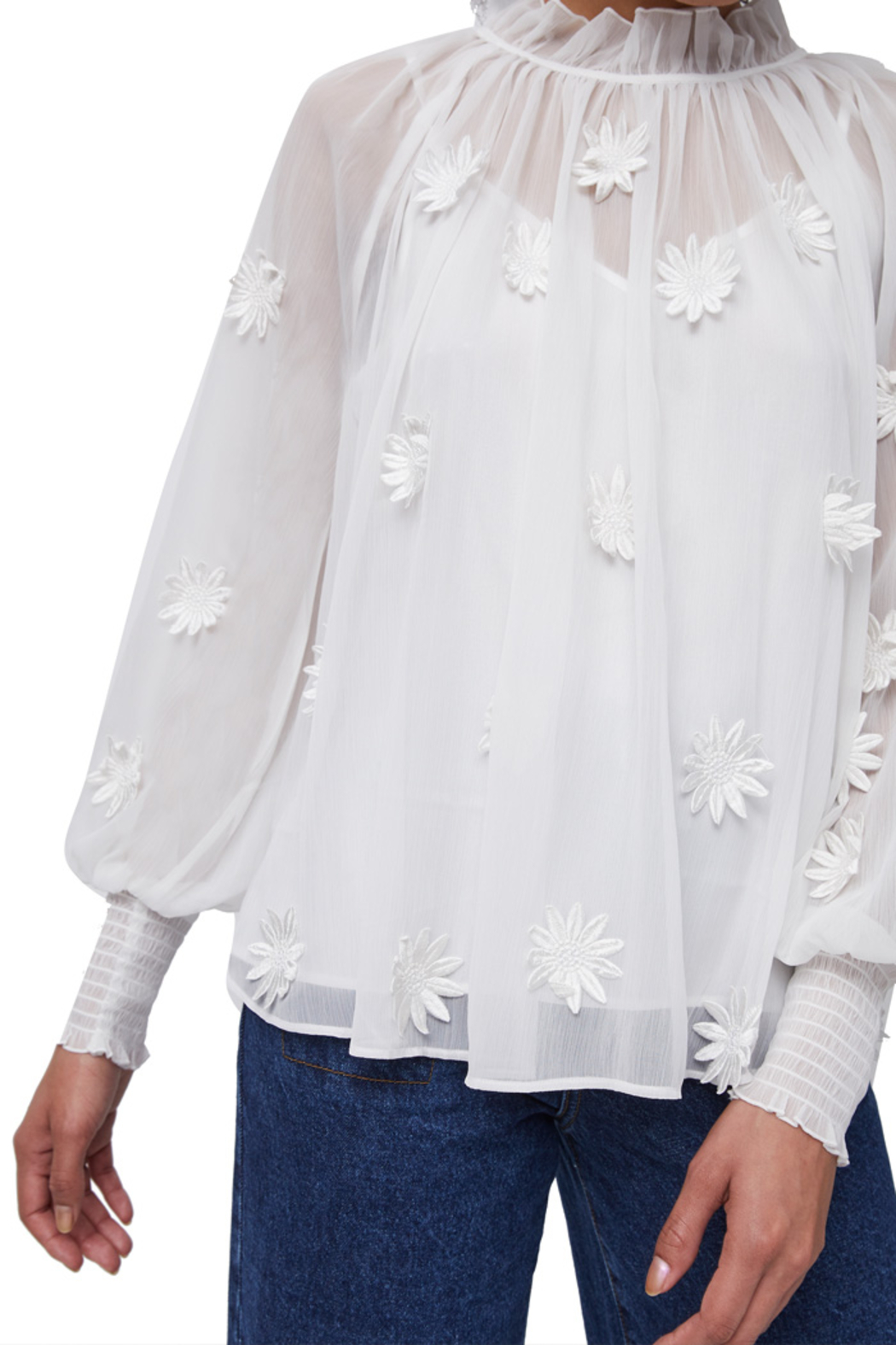 French Connection Aziza Floral Blouse - Front Full Image