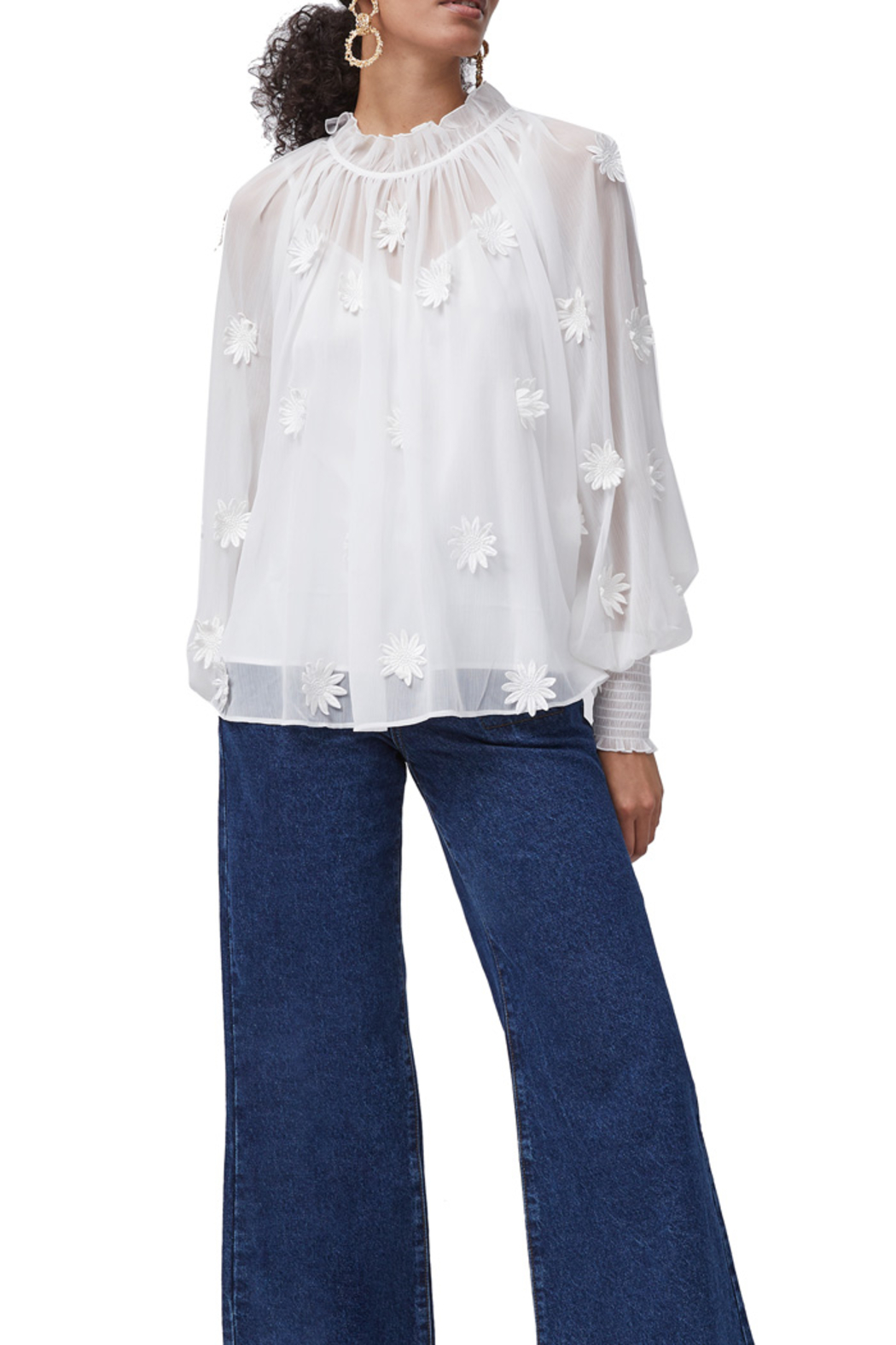 French Connection Aziza Floral Blouse - Back Cropped Image