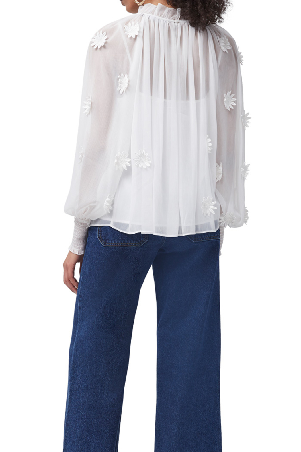 French Connection Aziza Floral Blouse - Side Cropped Image