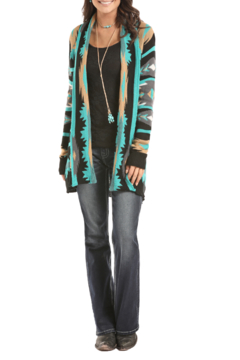 Rock & Roll Cowgirl Aztec Cardigan - Product List Image
