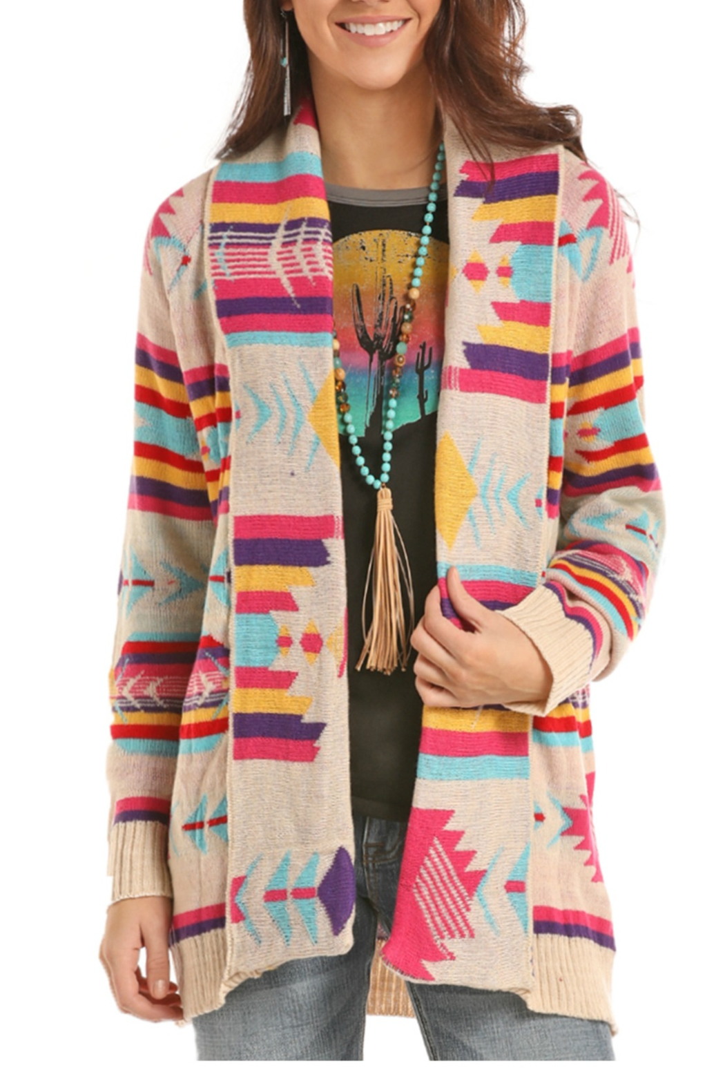 ebc8bd6858 Panhandle Slim Aztec Cardigan from Roanoke by Old Fort Western Store ...