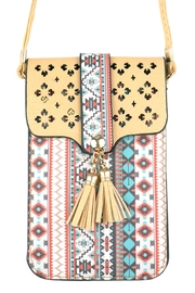 Riah Fashion Aztec-Cellphone Cross-Body-Bag - Product Mini Image
