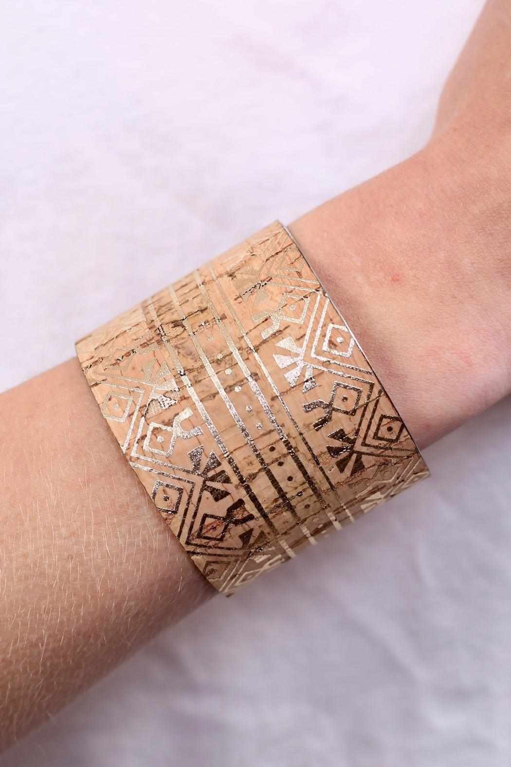 Caroline Hill Aztec Cork Cuff - Front Cropped Image