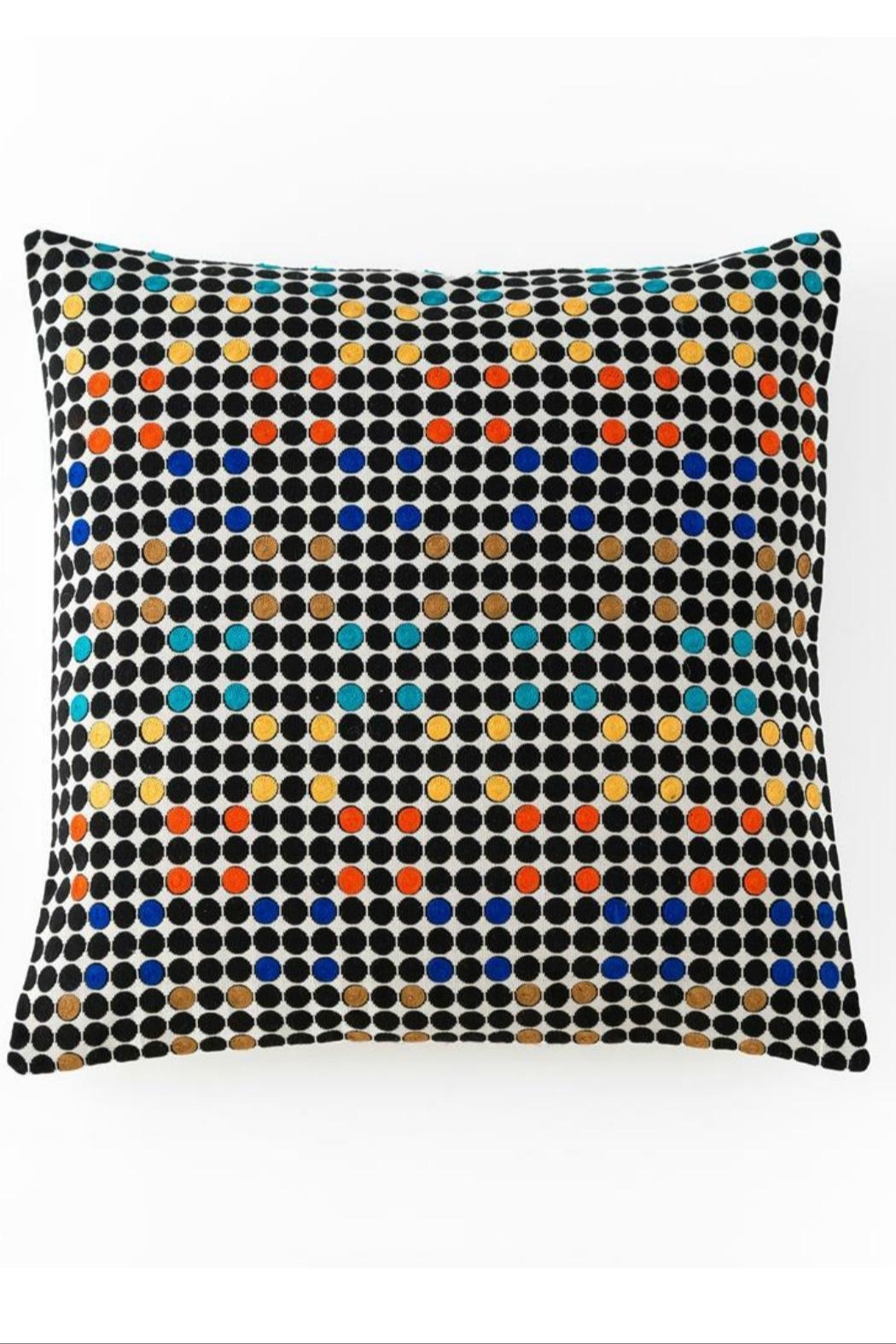 Shiraleah Aztec embroidered square pillow - Main Image