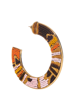 Mignonne Gavigan Aztec Fiona Beaded Hoop Earrings - Alternate List Image