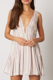 Cotton Candy LA Aztec Plunging Dress - Front full body