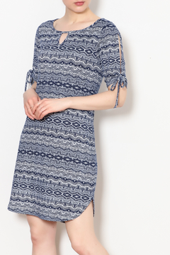 PAPILLON BLANC Aztec Print Shift Dress - Product List Image