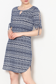 PAPILLON BLANC Aztec Print Shift Dress - Product Mini Image