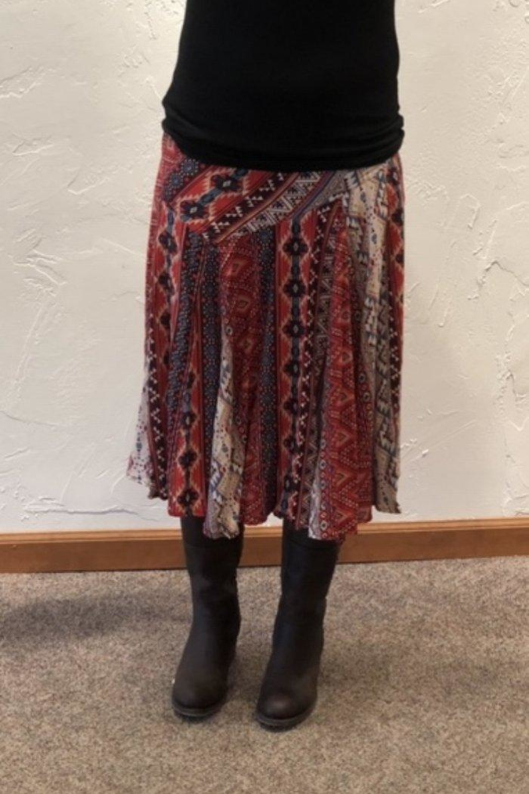 Lola P. Aztec Print Skirt - Front Cropped Image