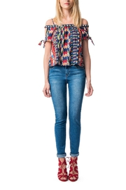 Best Mountain Aztec Print Top - Product Mini Image