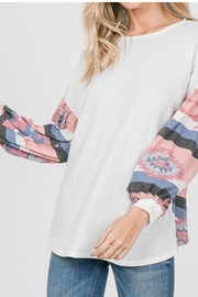 Lovely Melody Aztec Print Top - Product Mini Image