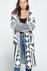 Davi & Dani Aztec Printed Cardigan - Side cropped