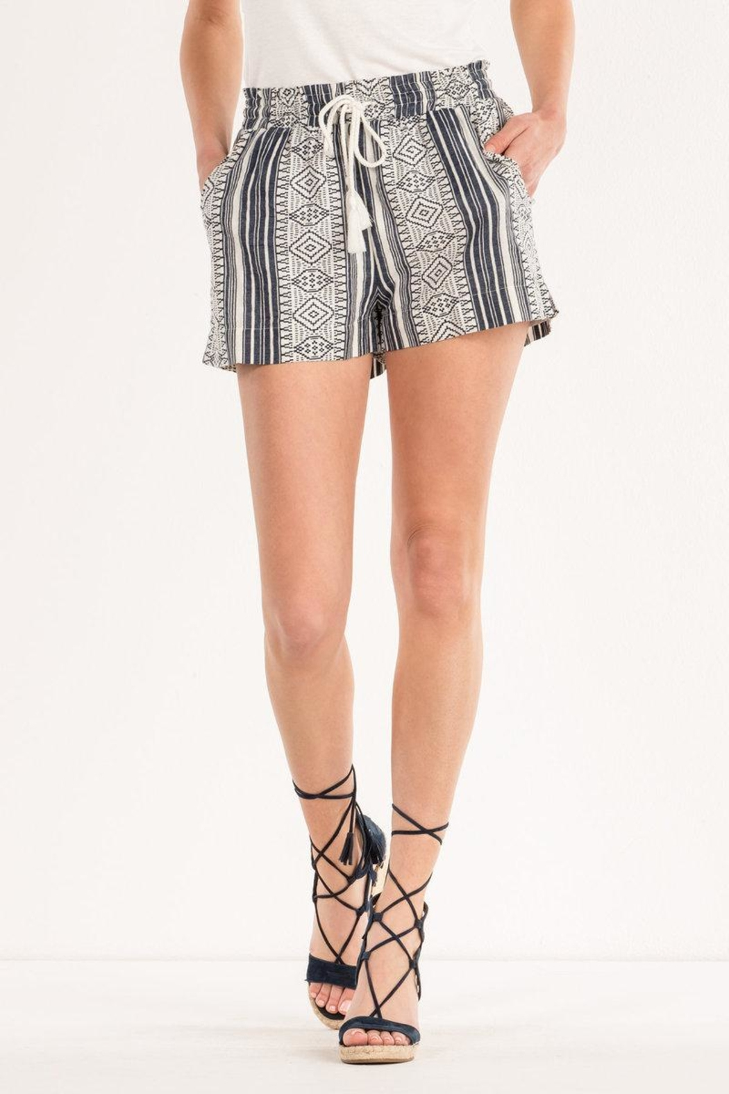 Miss Me Aztec Printed Shorts - Main Image