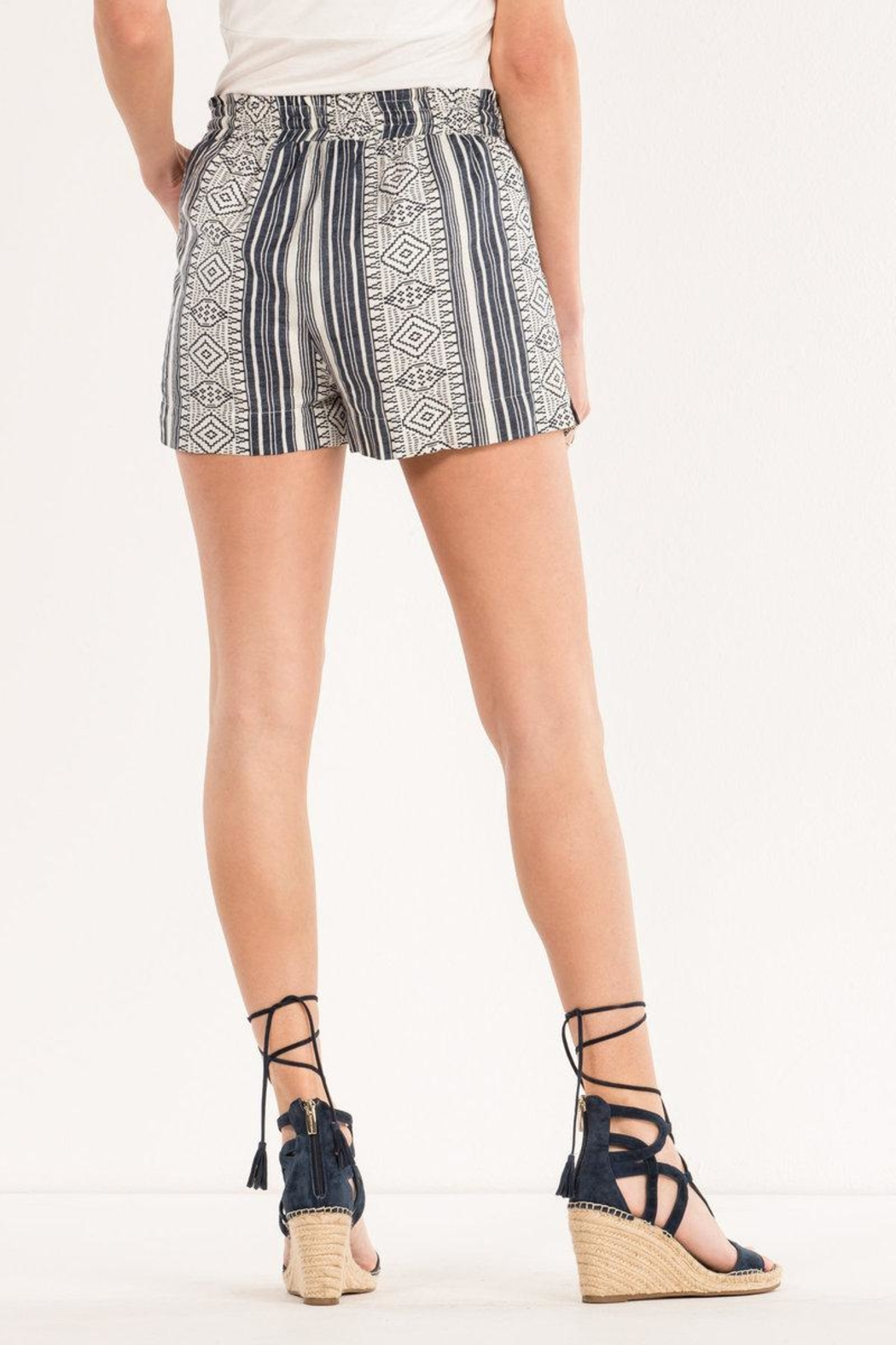Miss Me Aztec Printed Shorts - Side Cropped Image