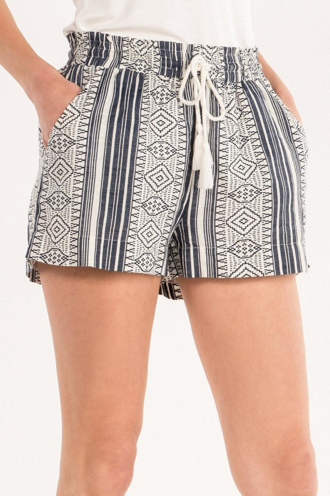Miss Me Aztec Printed Shorts - Back Cropped Image