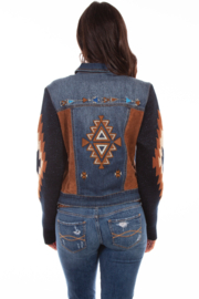 Scully Aztec Sweater Sleeve Jacket - Front full body