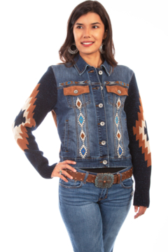 Scully Aztec Sweater Sleeve Jacket - Product List Image