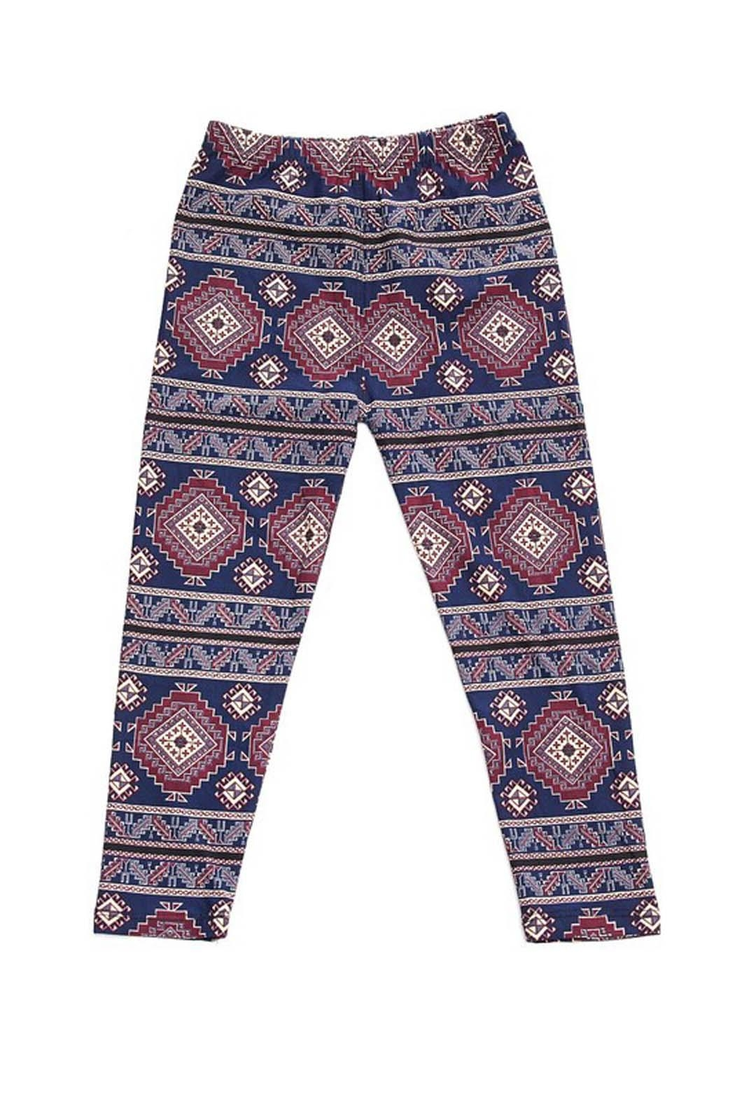 New Mix Aztec Tribal Legging - Front Cropped Image