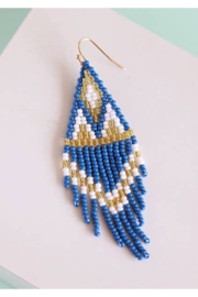 Fosterie  Azul Beaded Earrings - Product Mini Image