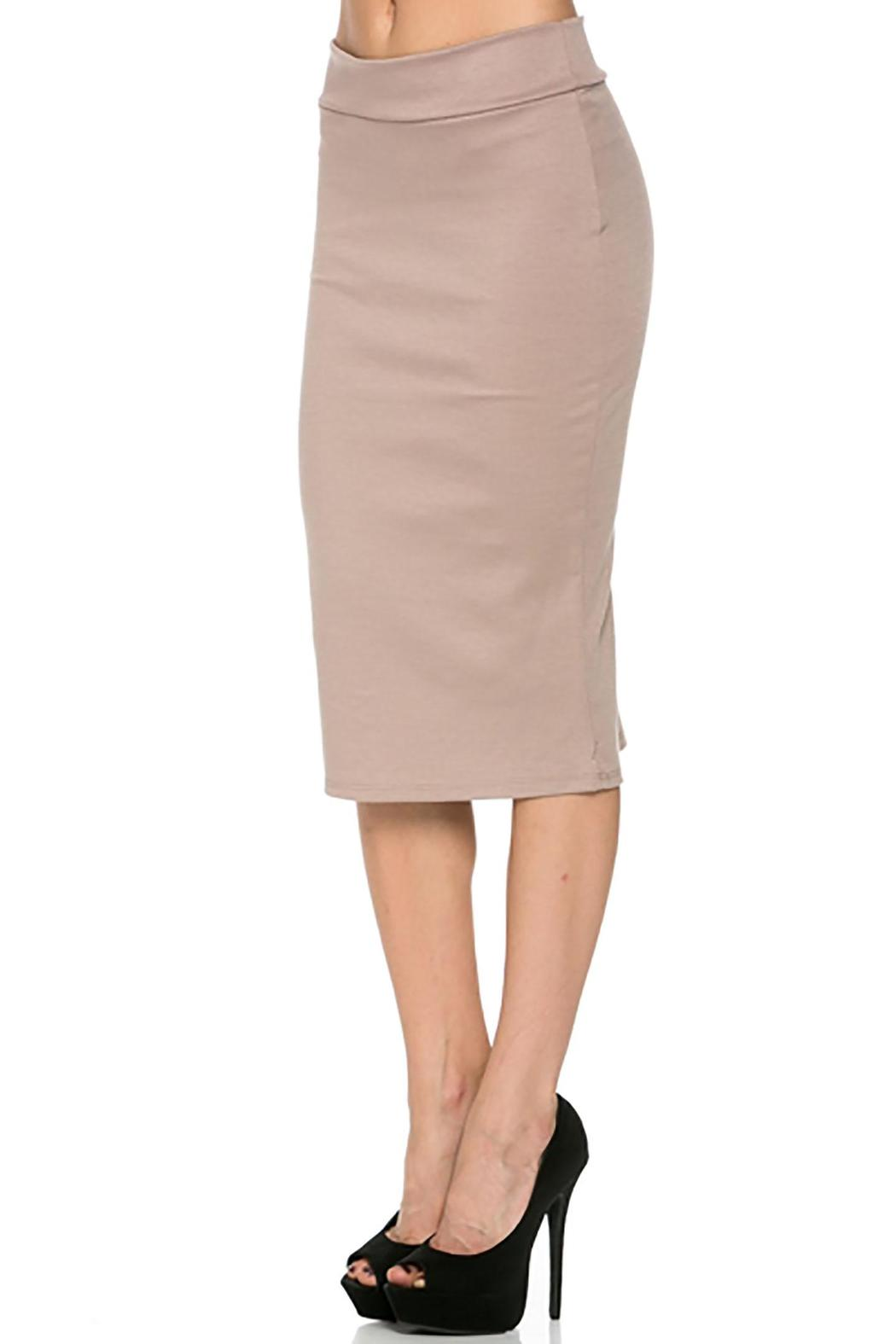 Azules Beige Pencil Skirt from Pennsylvania by Empire Styles ...